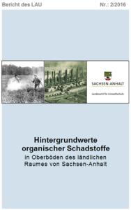 Das Bild zeigt das Titelblatt des Berichtes 2/2016 des Landesamtes für Umweltschutz Sachsen-Anhalt