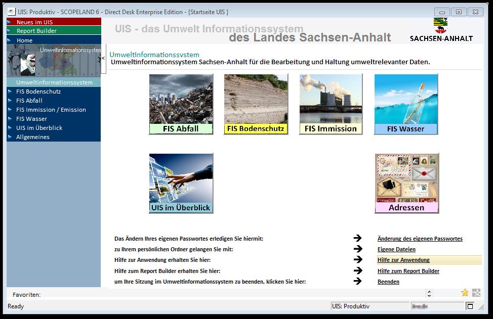 Startseite Umweltinformationssystem